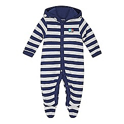 bluezoo - Baby boys' navy striped onesie