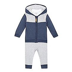 bluezoo - Baby boys' navy t-shirt, hoodie and joggers set
