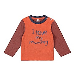 bluezoo - Baby boys' orange 'Love mummy' top