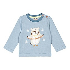 bluezoo - Baby boys' blue striped dressed up penguin top