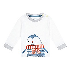 bluezoo - Baby boys' white penguin face top