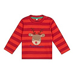 bluezoo - Baby boys' red striped 'My First Christmas' top