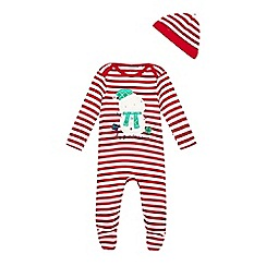 bluezoo - Striped Christmas sleepsuit