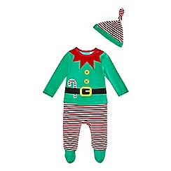 bluezoo - Christmas elf sleepsuit and hat
