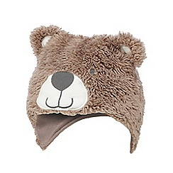 bluezoo - Baby boys' brown bear trapper hat