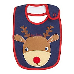 bluezoo - Baby's blue Rudolph bib