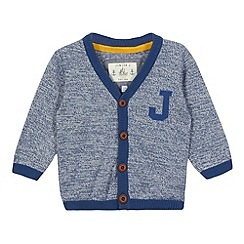 J by Jasper Conran - Designer boy's light blue knitted ribbed cardigan