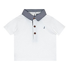 J by Jasper Conran - Designer babies white chambray collar polo shirt