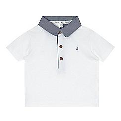 J by Jasper Conran - Designer babies white chambray collar polo shirt