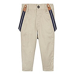 J by Jasper Conran - Designer babies natural twill trousers with braces