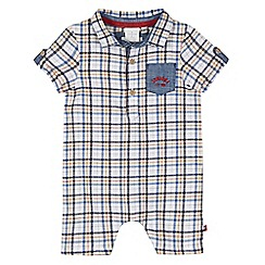 J by Jasper Conran - Designer babies yellow checked romper suit