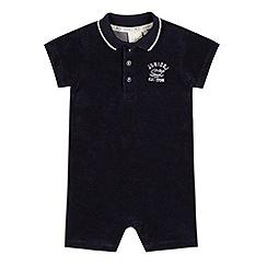 J by Jasper Conran - Designer babies navy towelling romper suit