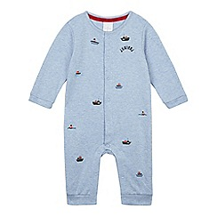 J by Jasper Conran - Designer babies light blue boat patterned sleepsuit
