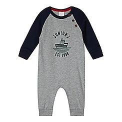 J by Jasper Conran - Designer babies grey ship logo romper suit