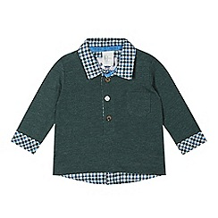J by Jasper Conran - Babies green mockable shirt