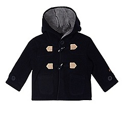 J by Jasper Conran - Designer babies navy hooded fleece coat