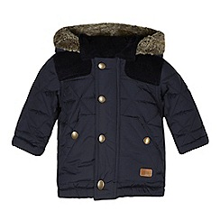 bluezoo - Babies navy quilted cord shoulder coat