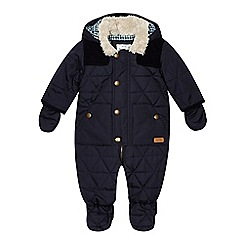 J by Jasper Conran - Designer babies navy quilted snowsuit