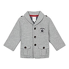 J by Jasper Conran - Designer babies grey ribbed fleece jacket