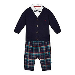 J by Jasper Conran - Baby boys' cardigan, shirt and bottoms set
