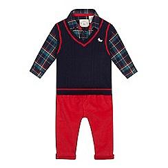 J by Jasper Conran - Baby boys' red shirt, tank top and cords set