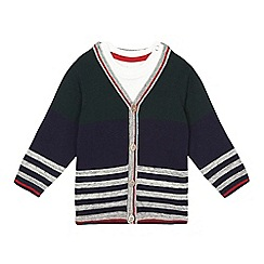 J by Jasper Conran - Baby boys' navy striped cardigan