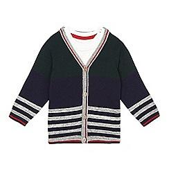 J by Jasper Conran - Baby boys' navy striped cardigan