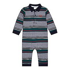 J by Jasper Conran - Babies green block striped romper suit