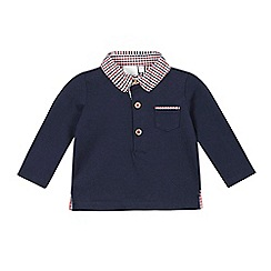 J by Jasper Conran - Baby boys' navy gingham collar polo shirt