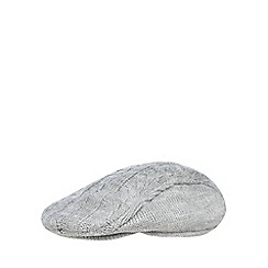 J by Jasper Conran - Baby boys' grey cable knit flat cap