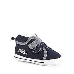 J by Jasper Conran - Baby boys' navy fleece lined booties