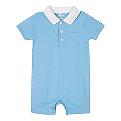 bluezoo - Babies blue polo romper suit