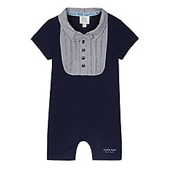 RJR.John Rocha - Designer babies navy bow tie romper suit