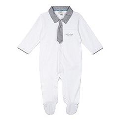 RJR.John Rocha - Designer babies white shirt romper suit
