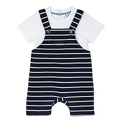 RJR.John Rocha - Designer babies navy striped tucan mockable romper