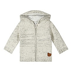 RJR.John Rocha - Designer babies cream bear hooded cardigan