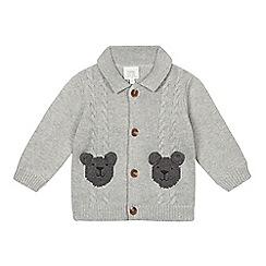 RJR.John Rocha - Designer babies grey bear graphic cardigan