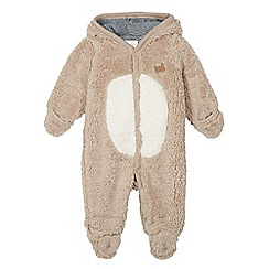 RJR.John Rocha - Babies brown fleece bear all-in-one suit