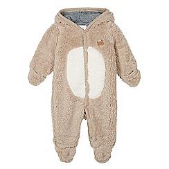 RJR.John Rocha - Babies brown fleece bear all-in-one suit