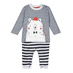 RJR.John Rocha - Designer babies navy striped romper suit
