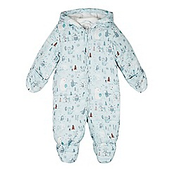 RJR.John Rocha - Babies light green woodland animal print snowsuit