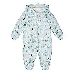 RJR.John Rocha - Babies light green woodland animal print snowsuit