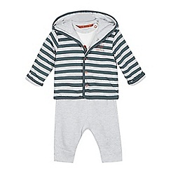 RJR.John Rocha - Designer babies grey jacket, t-shirt and jogging bottoms set