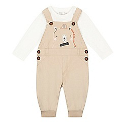 RJR.John Rocha - Baby boys' beige cord dungarees and t-shirt set