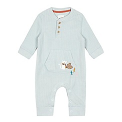RJR.John Rocha - Baby boys' light green owl fleece sleepsuit