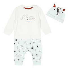 RJR.John Rocha - Baby boys' light green woodland creatures romper and hat set