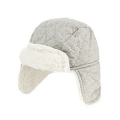 RJR.John Rocha - Baby boys' grey quilted trapper hat