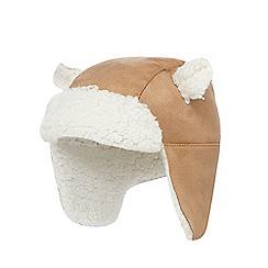 RJR.John Rocha - Baby boys' beige suedette bear trapper hat