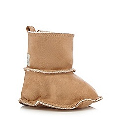 RJR.John Rocha - Baby girls' tan suedette booties