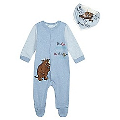 The Gruffalo - Baby boys' 'I'm the scariest' blue footed sleep suit
